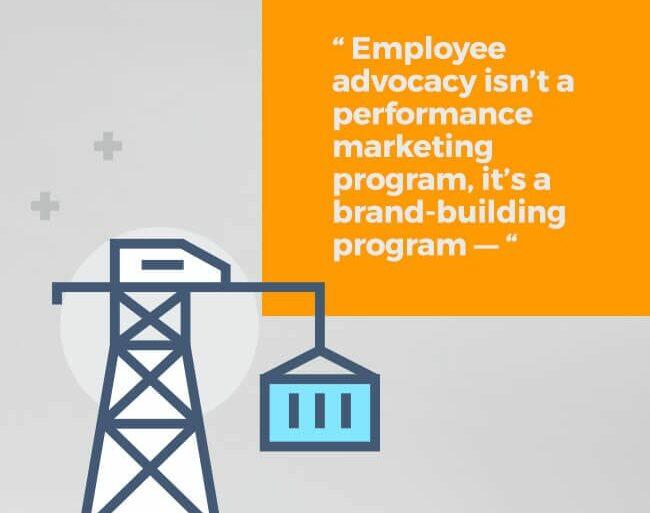 Employee advocacy isn't a performance marketing program, it's a brand-building program.