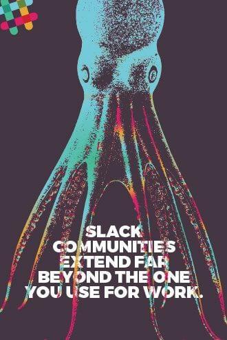 Slack advertisement about extending your community.