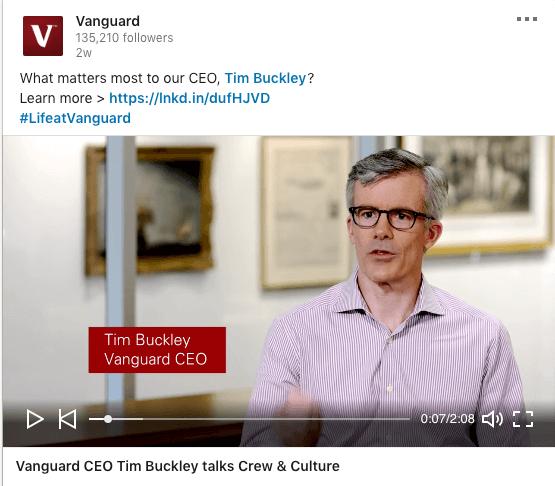Vanguard CEO