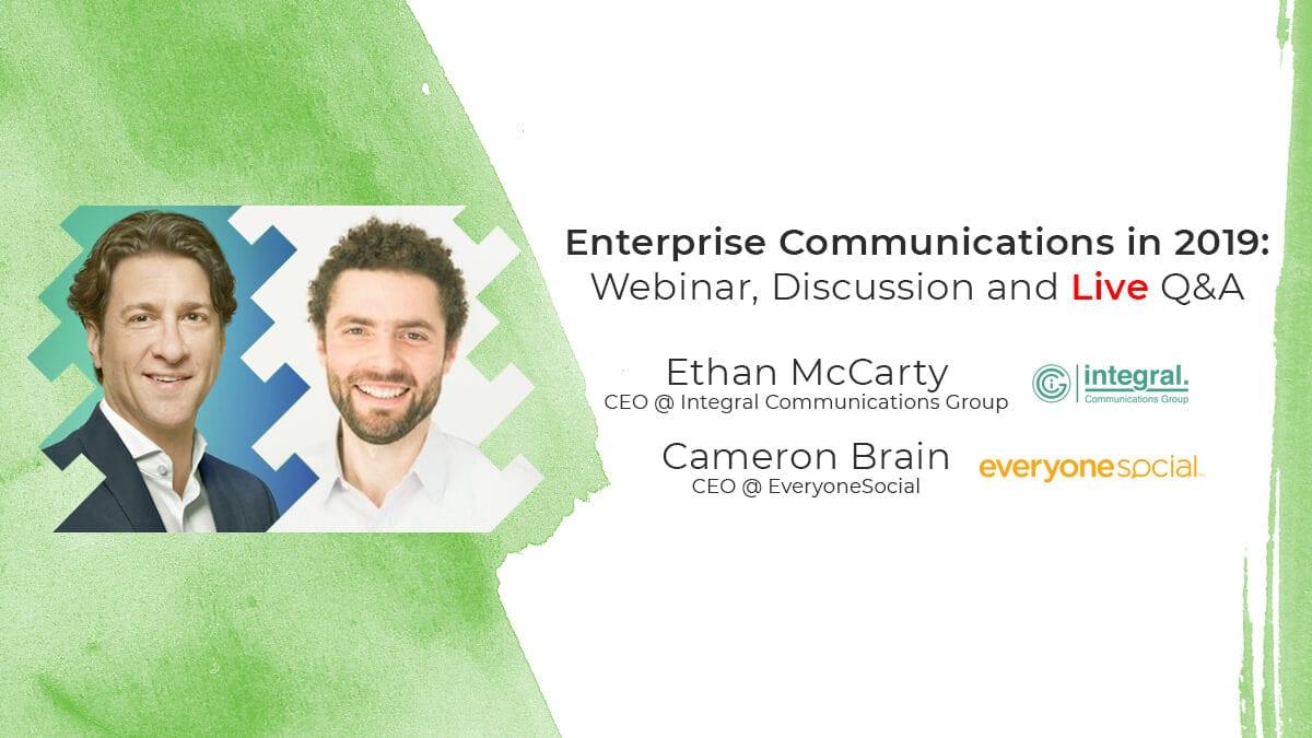 Enterprise communications webinar.