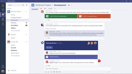 View of Microsoft Teams Platform