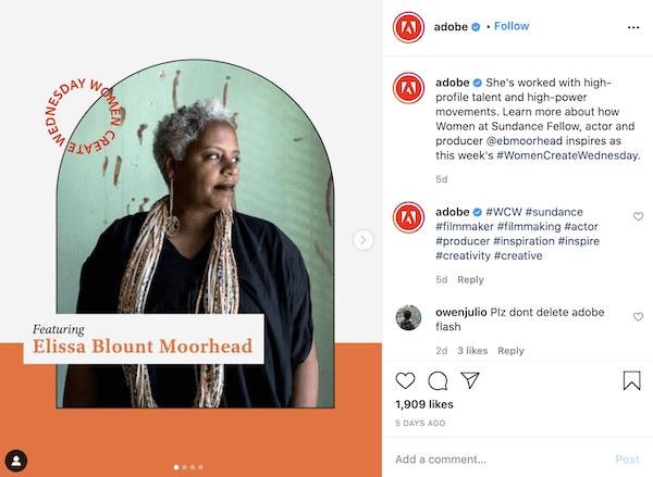 Adobe Brand Ambassador Example