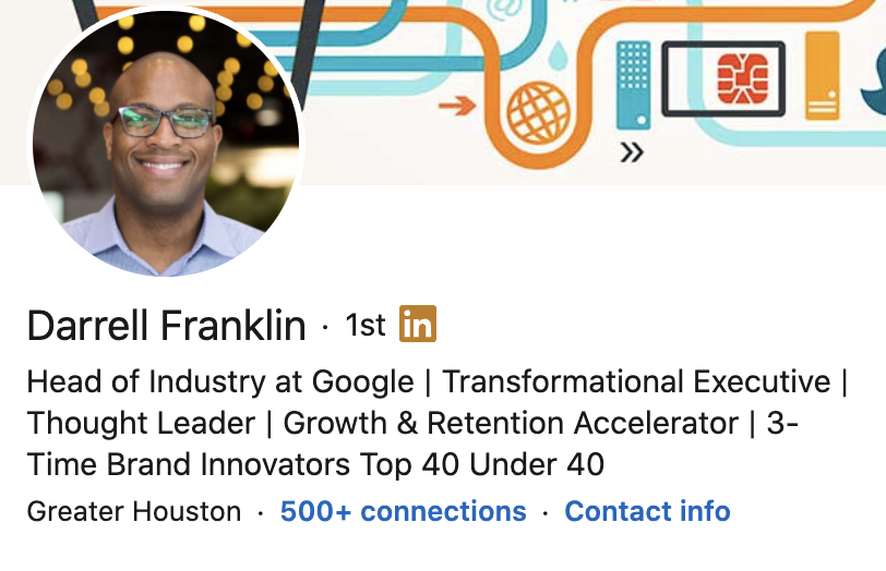 personal brand statement from Darrell Frankin's LinkedIn. profile