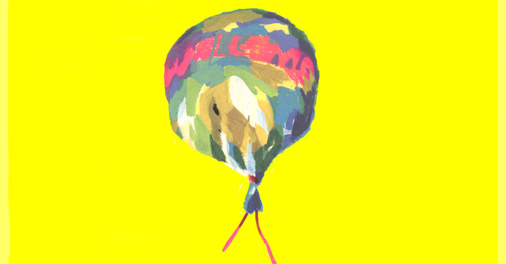 illustration of balloon that says