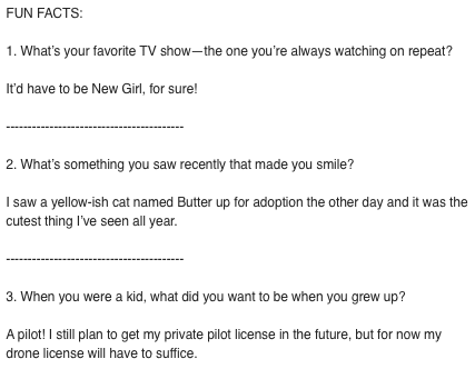 questions to ask new hires for welcome message