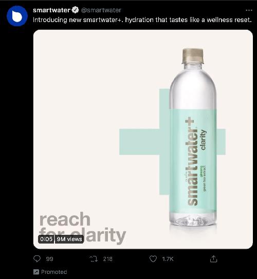 smartwater promoted tweet