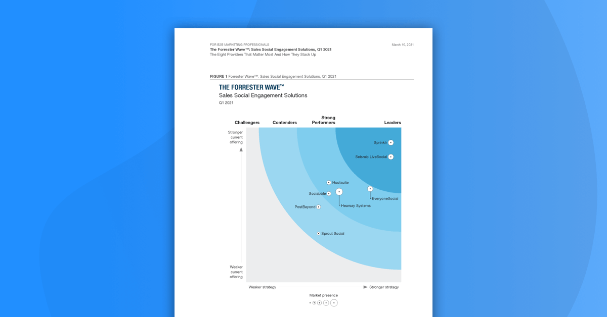 The Forrester Wave Q1 2021 Report