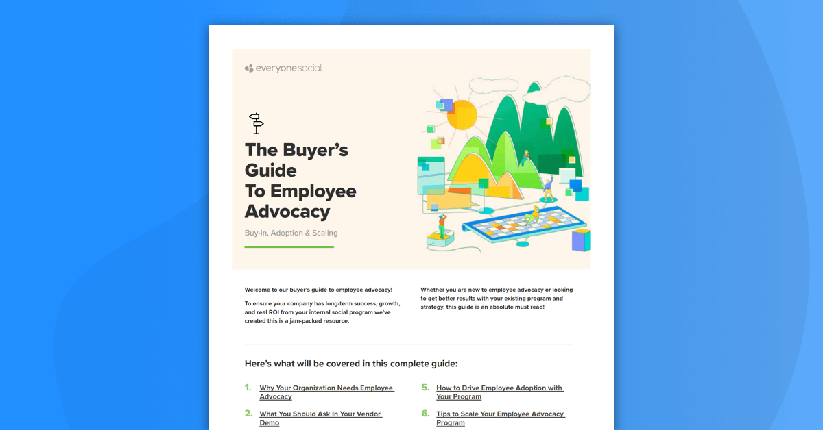 The Buyer's Guide To Employee Advocacy: Buy-in, Adoption, Scaling