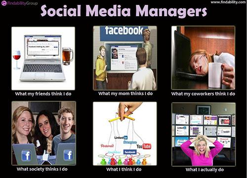social media managers meme