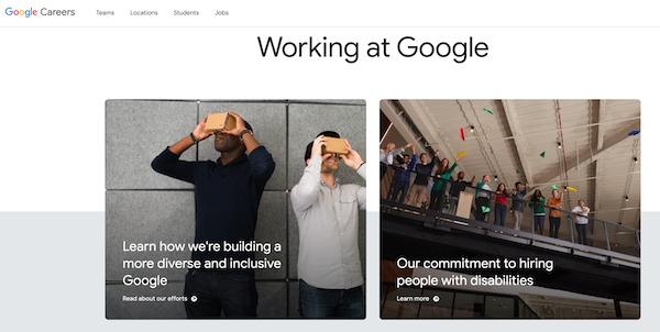 Google employee branding example.