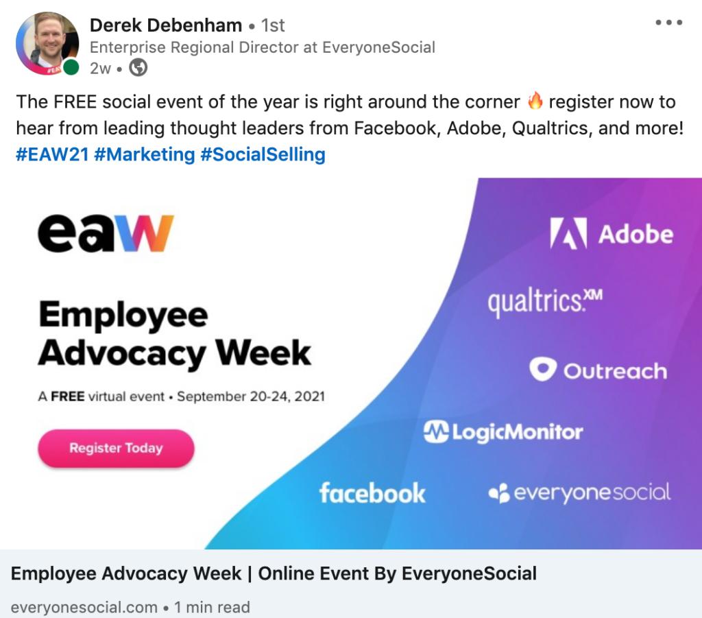 employee advocacy week linkedin post