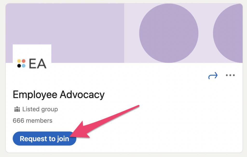 linkedin employee advocacy group